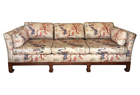 Chinoiserie Wood Sofa