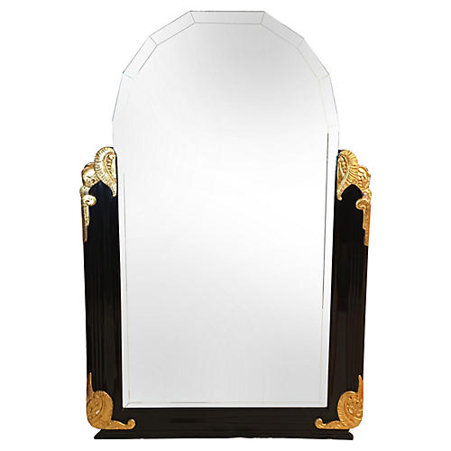 Neoclassical-Style Gold Leaf Mirror