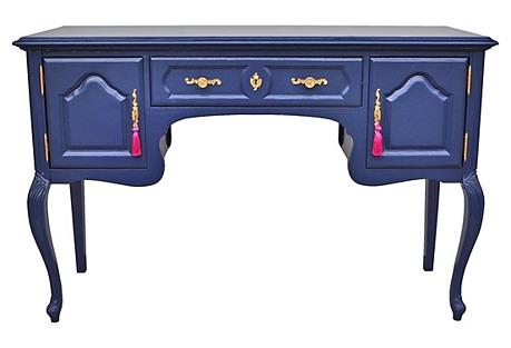 Blue High Gloss Lacquered Sideboard