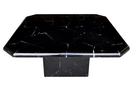 Black & White Faux-Marble Coffee Table