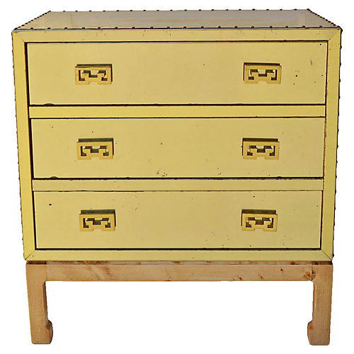 Brass Clad Chinoiserie Chest