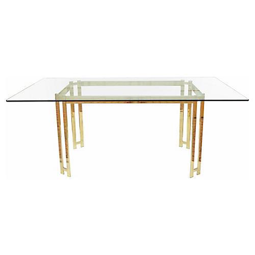 Modern Brass Dining Table