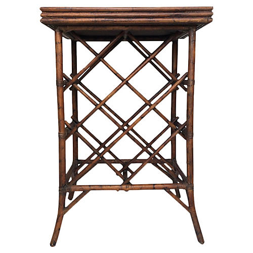Bamboo Wine Rack & Tray Table