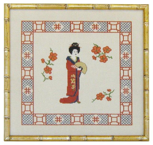 Geisha Girl Needlepoint