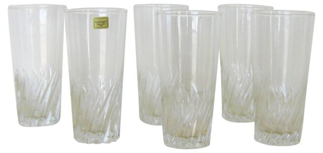 French Glass Tumblers, S/6