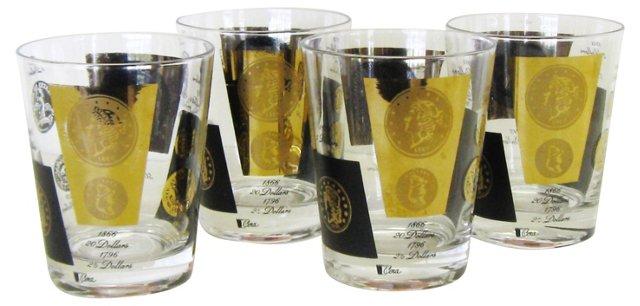 Cora Old Fashioned Glassware, S/4