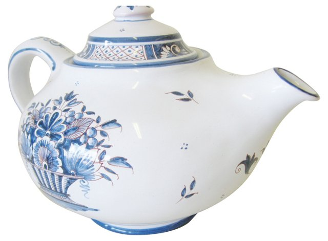 French Faïence Teapot
