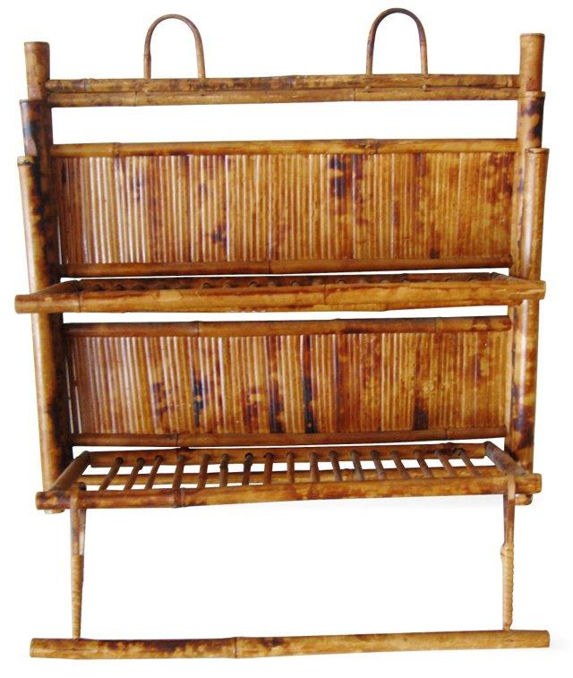 Rattan Shelf & Towel Rack