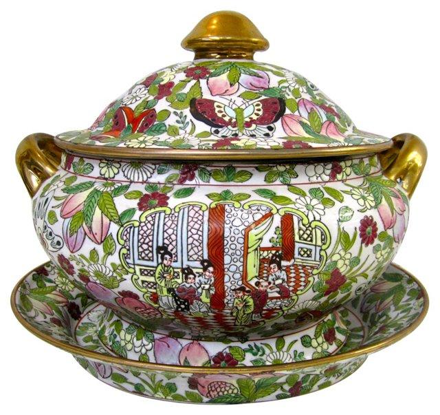 Chinese Soup Tureen w/ Platter