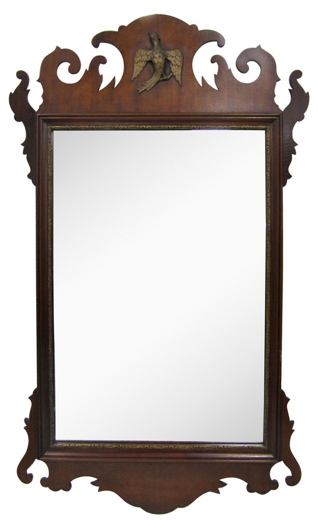 Antique Chippendale Mirror w/ Eagle