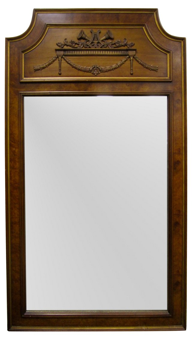 French Carved Trumeau Mirror