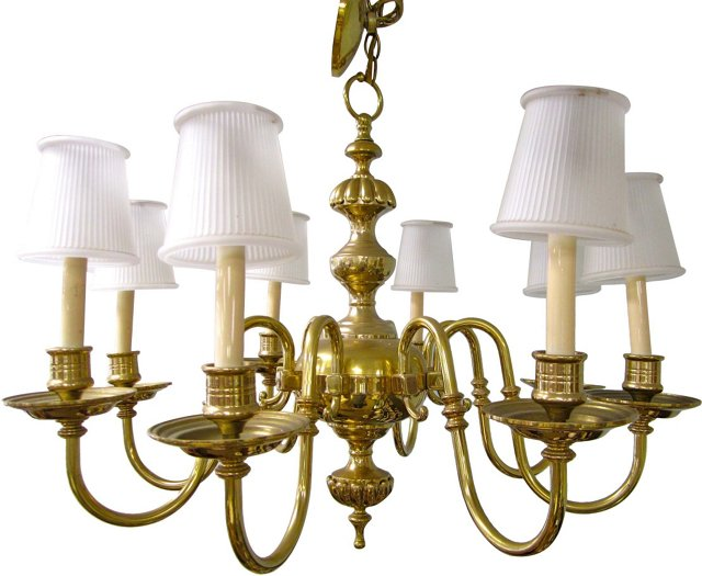 Federal-Style Brass Chandelier