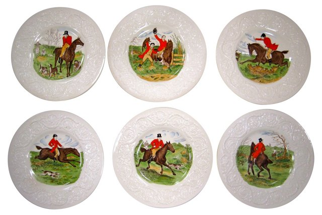 Wedgwood Equestrian Plates, S/6
