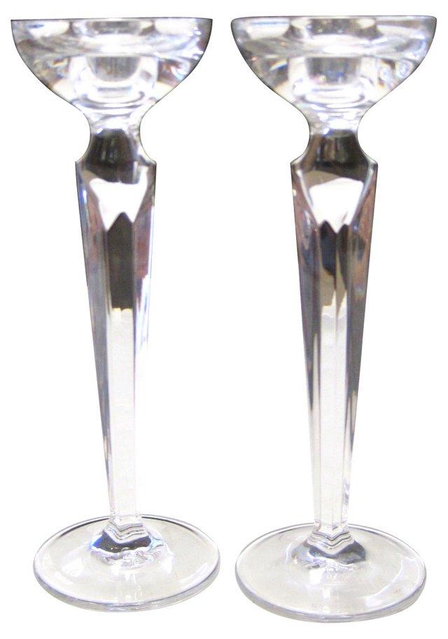 Rosenthal Crystal Candlesticks, Pair