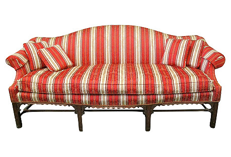 Margolis Federal-Style Camelback Sofa