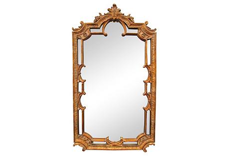 Gold Baroque-Style Mirror