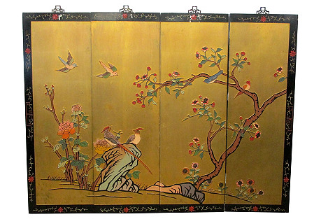 Gold Chinese Panels, S/4