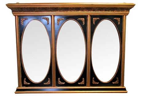 Black Tryptich Mirror