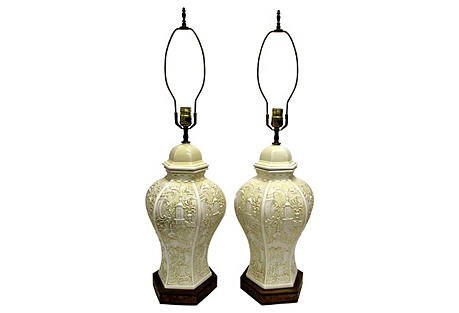 Ginger Jar Lamps, S/2