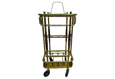 Small Brass Bar Cart