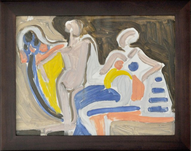Seated Woman, Standing Man