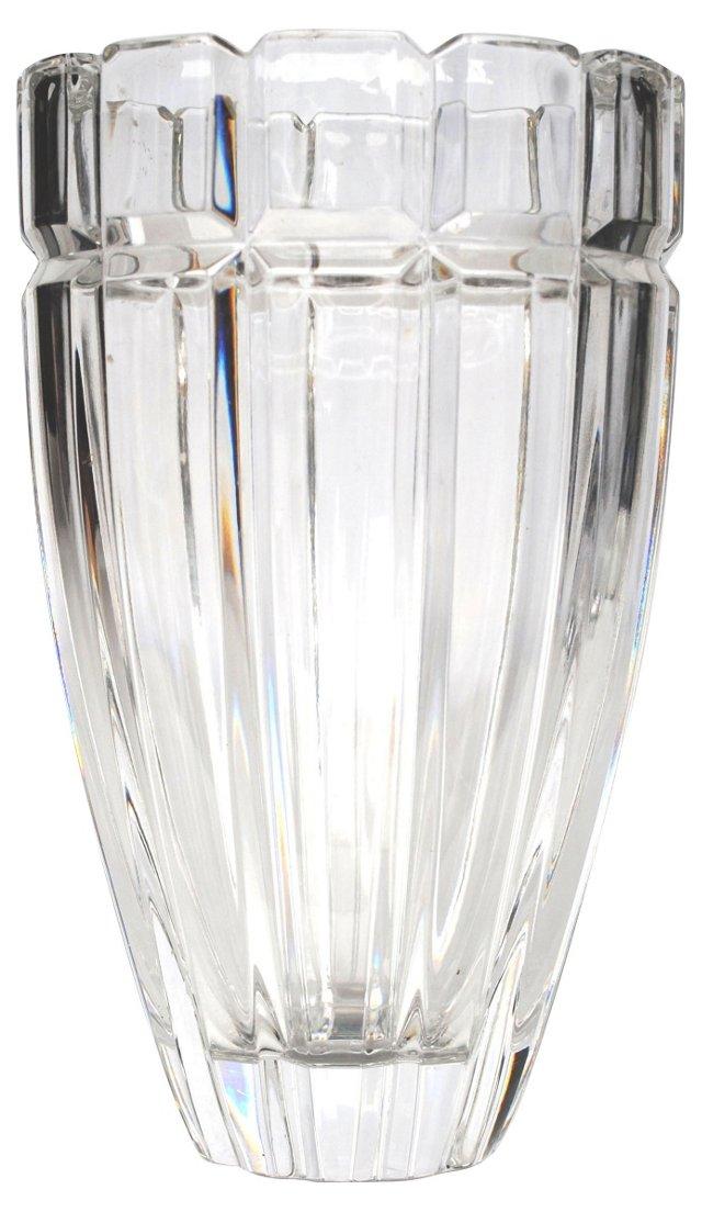 Barrel Shaped Crystal Vase
