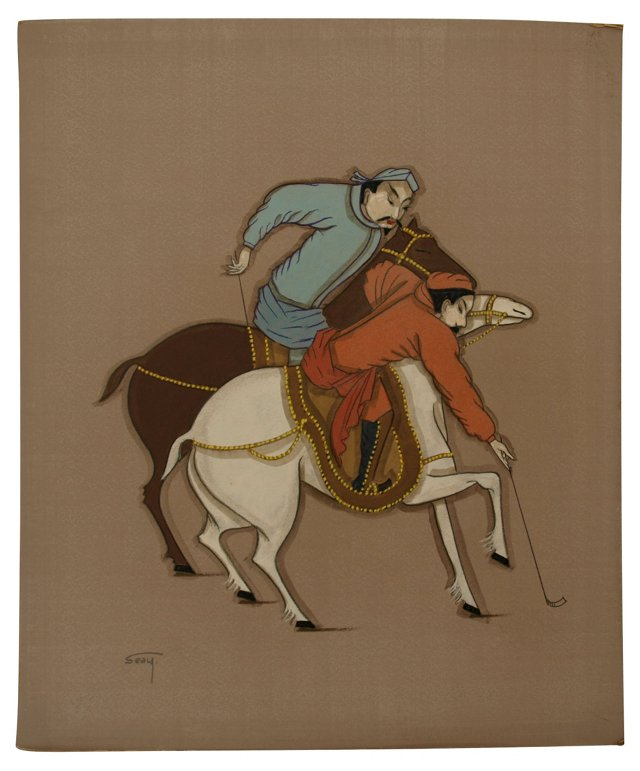 Persian Polo Match by Bill Seay