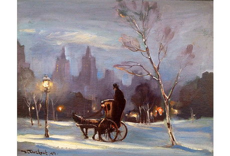 New York Winter by Bela de Tirefort