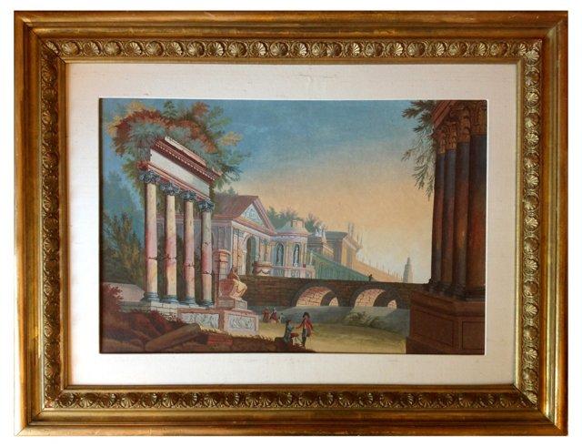 Neoclassical  Italian Scene