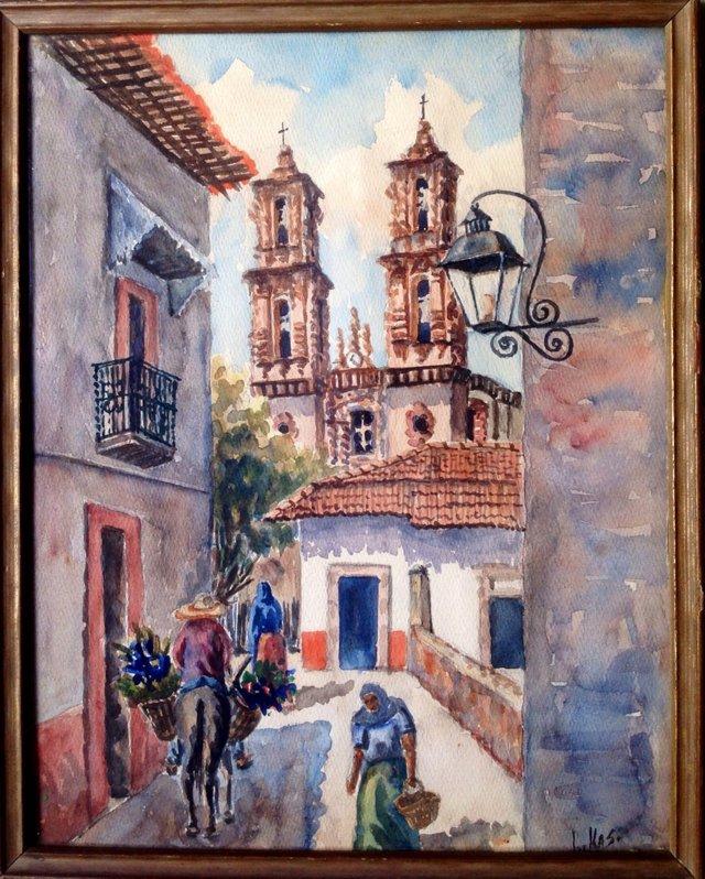 Spanish Colonial Street Scene