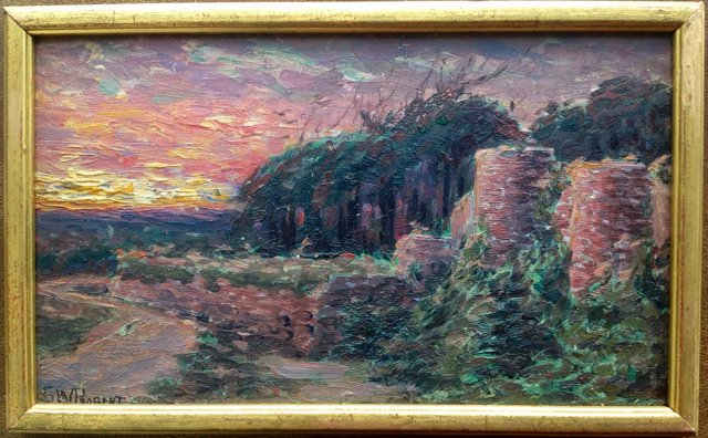 Sunset Landscape by S.W. Probert