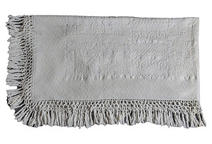 19th-C. Fringed Bed Cover