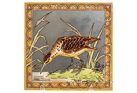 19th-C. Minton Aesthetic Tile