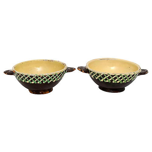 French Terracotta Bowls, S/2