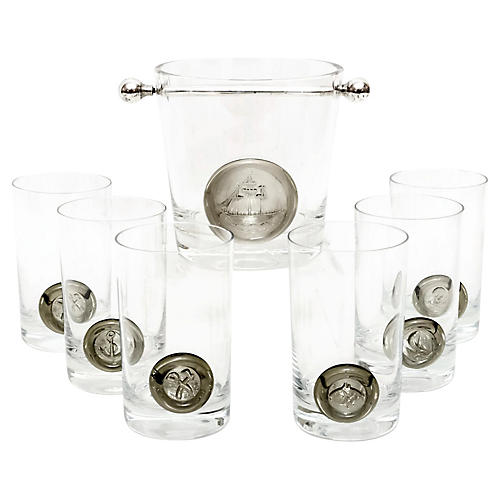 Rosenthal Studio Pirate Barware, S/7
