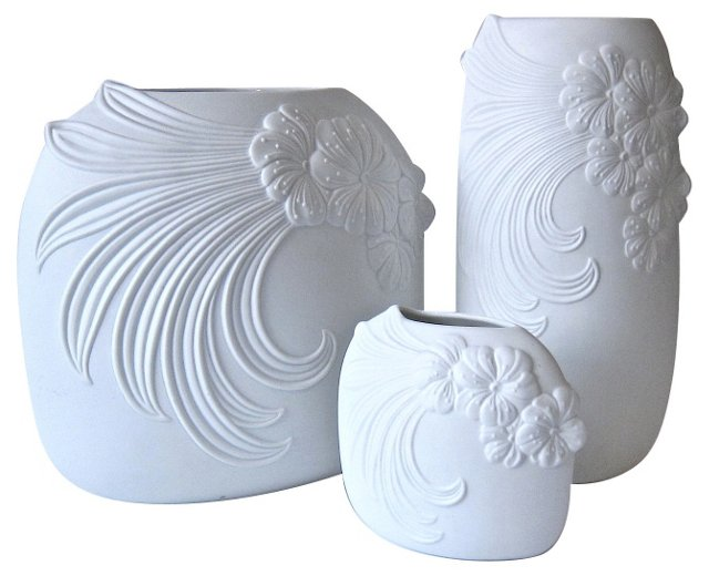 Frey Porcelain Vases, Set of 3