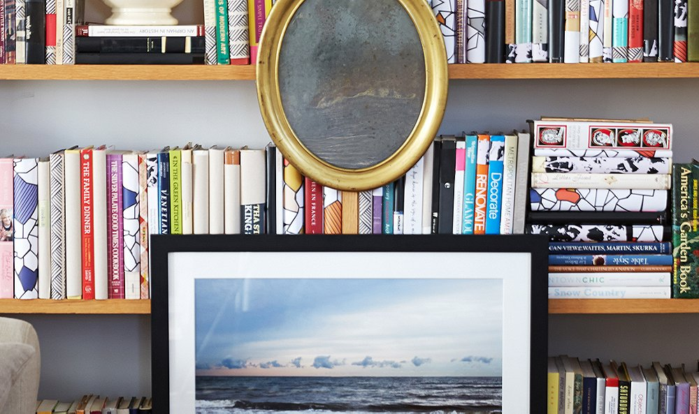 Need an Easy Bookcase Upgrade? Hang Some Art!