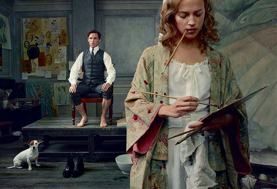 Nominees Eddie Redmayne and Alicia Vikander in The Danish Girl, photographed by Annie Leibovitz